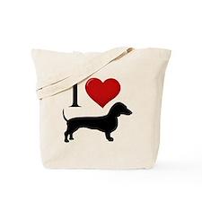 Dachshund - I Love Dachshunds Tote Bag