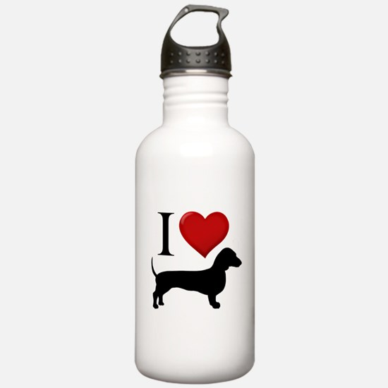 Dachshund - I Love Dachshunds Sports Water Bottle