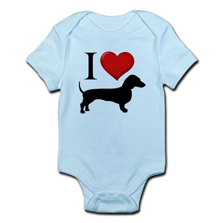 Dachshund - I Love Dachshunds Infant Bodysuit