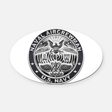 USN Naval Aircrewman AW Eagle Rate Oval Car Magnet