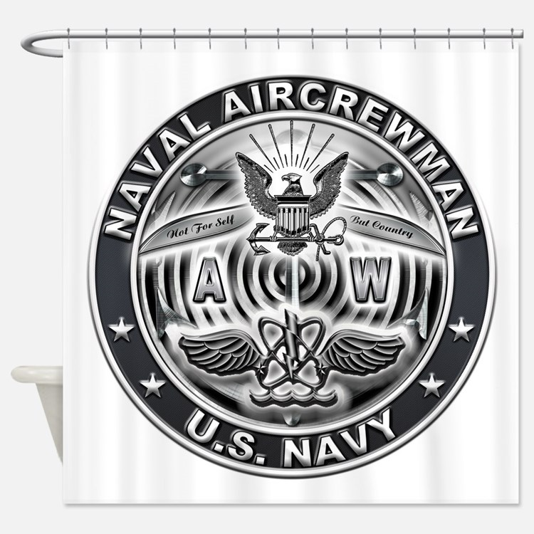 USN Naval Aircrewman AW Eagle Rate Shower Curtain