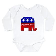 Cute Republican toddler Long Sleeve Infant Bodysuit