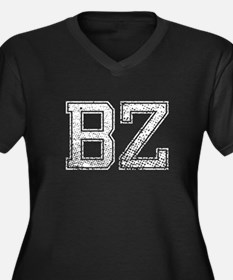 BZ, Vintage Women's Plus Size V-Neck Dark T-Shirt