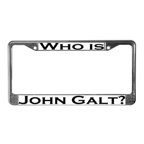 Who is John Galt License Plate Frame BLACK