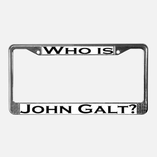 Who is John Galt License Plate Frame BLACK