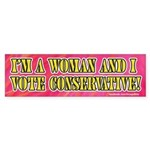 Conservative woman bumper sticker