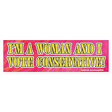 Conservative woman bumper sticker