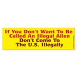 illegal Alien Bumper Sticker