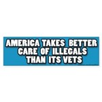 illegal Alien/Vet bumper sticker