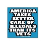 "illegal Alien/Vet 3"" x 3"" sticker"