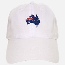 Flag Map of Australia Baseball Baseball Cap