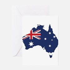 Flag Map of Australia Greeting Card