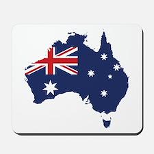Flag Map of Australia Mousepad