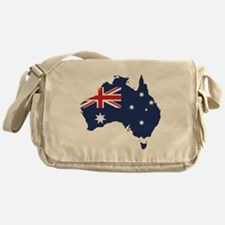 Flag Map of Australia Messenger Bag
