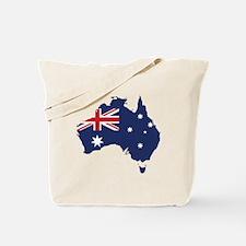 Flag Map of Australia Tote Bag