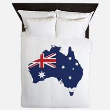Flag Map of Australia Queen Duvet