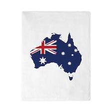Flag Map of Australia Twin Duvet