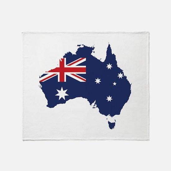 Flag Map of Australia Throw Blanket