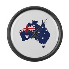 Flag Map of Australia Large Wall Clock
