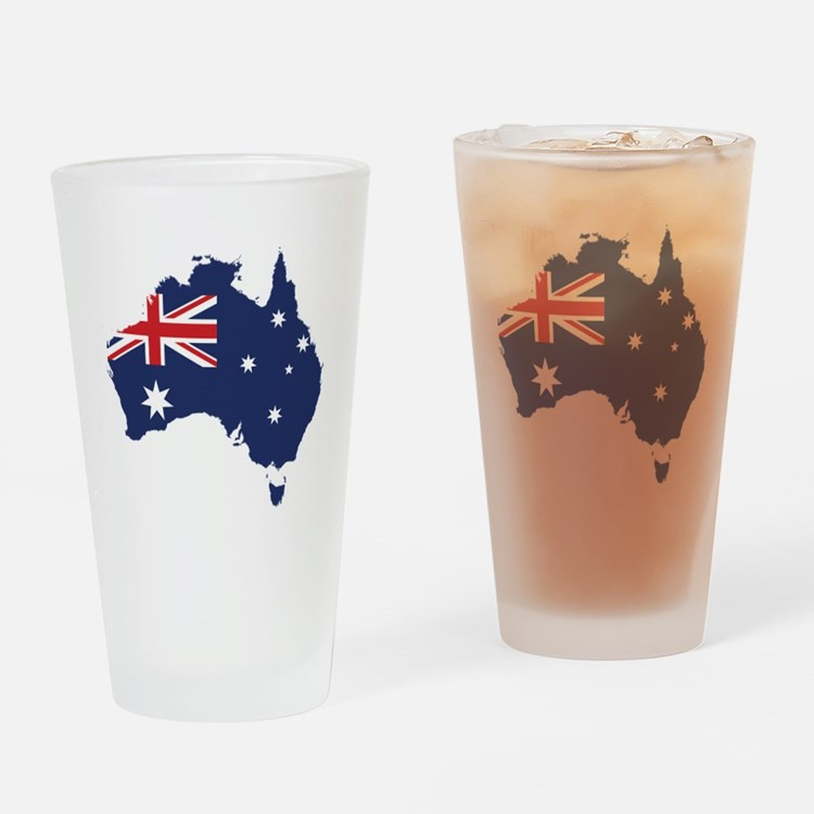 Flag Map of Australia Drinking Glass