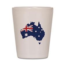 Flag Map of Australia Shot Glass