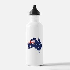 Flag Map of Australia Water Bottle