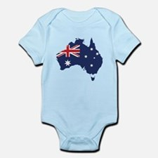 Flag Map of Australia Infant Bodysuit