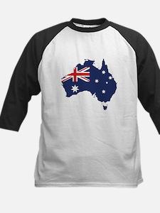 Flag Map of Australia Kids Baseball Jersey