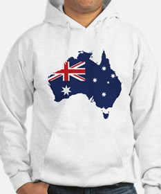 Flag Map of Australia Hoodie