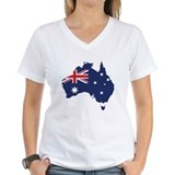 Australia Womens V-Neck T-shirts