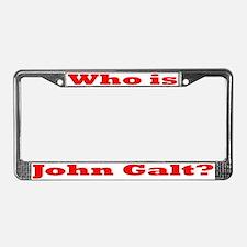Who is John Galt 5 License Plate Frame
