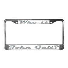 Who is John Galt 4 License Plate Frame