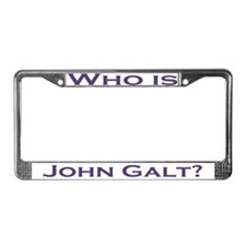 Who is John Galt License Plate Frame PURPLE