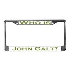 Who is John Galt License Plate Frame GREEN