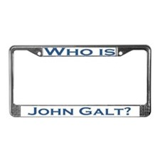 Who is John Galt License Plate Frame BLUE