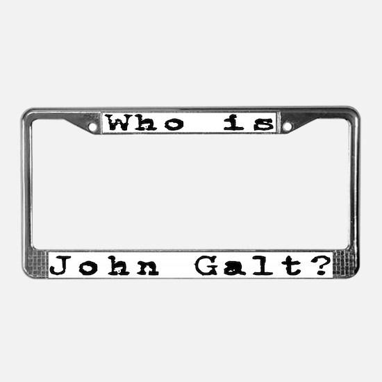 Who is John Galt? 2 License Plate Frame