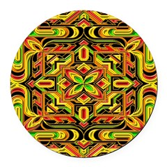 Colorful Mazes Round Car Magnet
