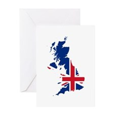 Flag Map of the United Kingdom Greeting Card