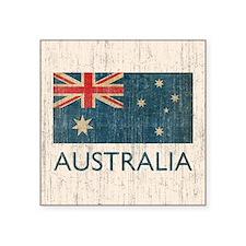 """Vintage Australia Flag Square Sticker 3"""" x 3"""""""