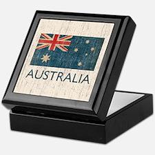 Vintage Australia Flag Keepsake Box