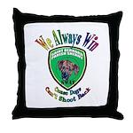 St. Bernard SWAT Throw Pillow