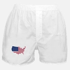 Flag Map of the USA Boxer Shorts