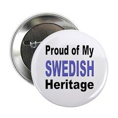 Proud Swedish Heritage Button