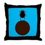 ELEANOR DUNG BEETLE Throw Pillow