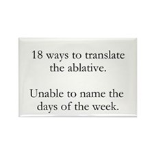 18 Ways to Translate the Ablative Rectangle Magnet