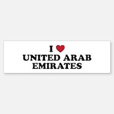 I Love United Arab Emirates Sticker (Bumper)
