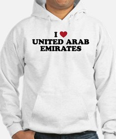 I Love United Arab Emirates Jumper Hoody