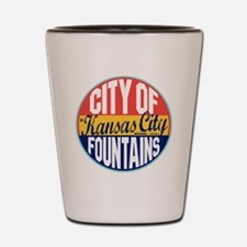 Kansas City Vintage Label Shot Glass