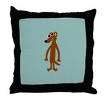 JACOB MEERKAT Throw Pillow