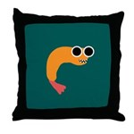 LOOPY FRIED SHRIMP Throw Pillow